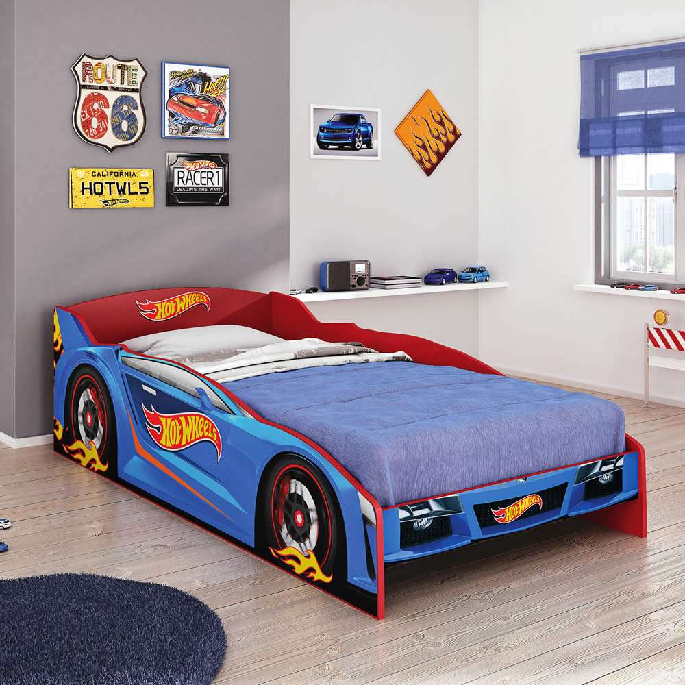 Cama Solteiro Hot Wheels Plus - Pura Magia