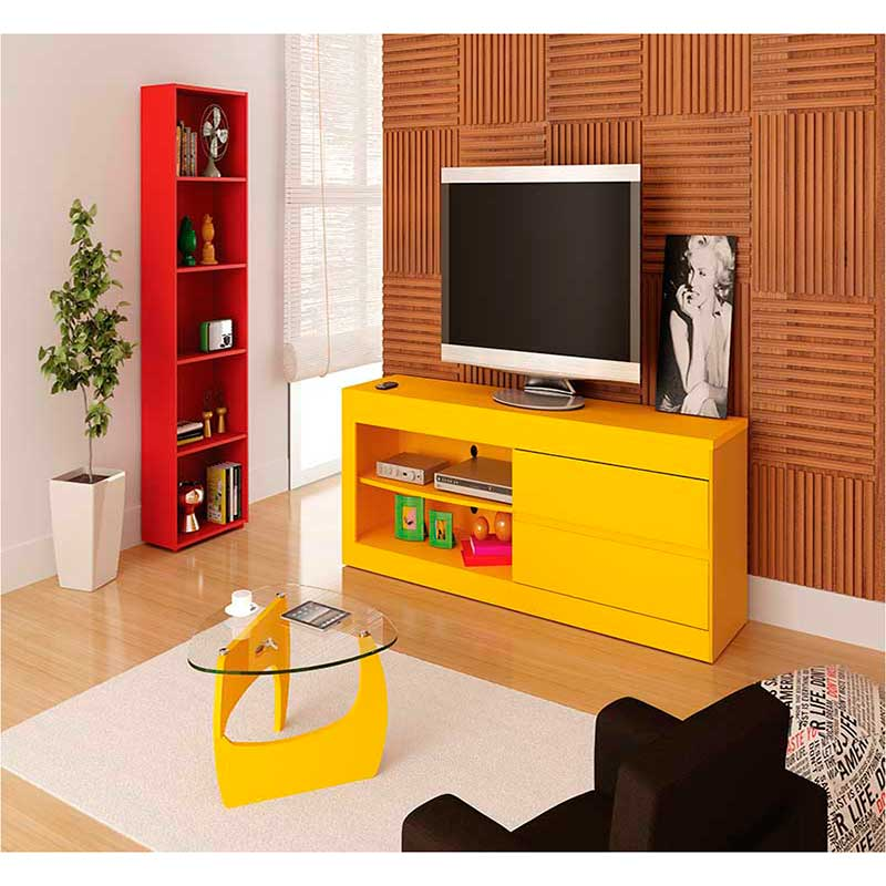 Rack Olympic 2 Gavetas - Artely Amarelo
