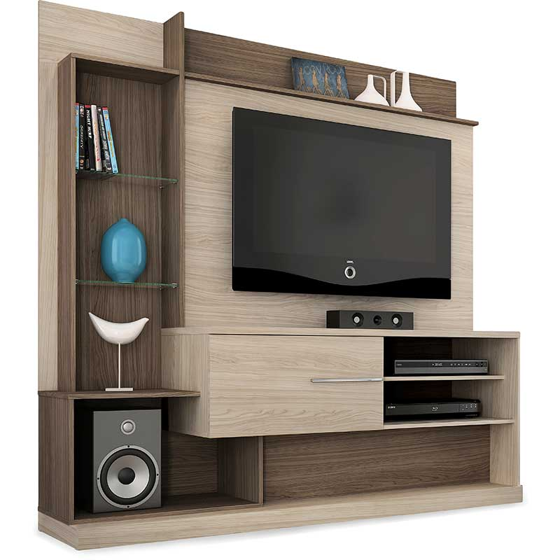 Home Theater Dimas - Madetec Areia/amendoa