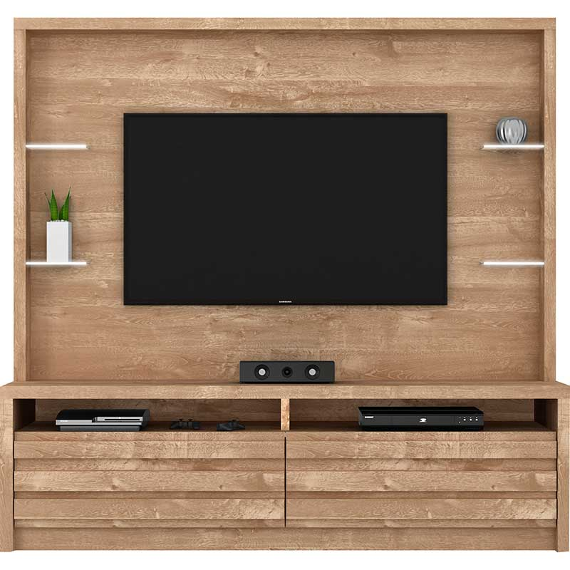 Estante Home Theater Vicentinni - Dj Móveis Rustico york