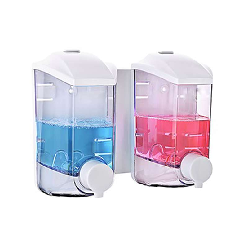 Dispenser Twin 400ml - Casambiente  Branco/azul