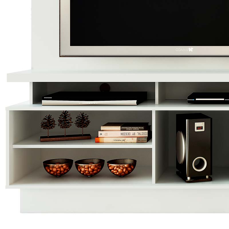 Estante Home Theater Vicente - Madetec Branco