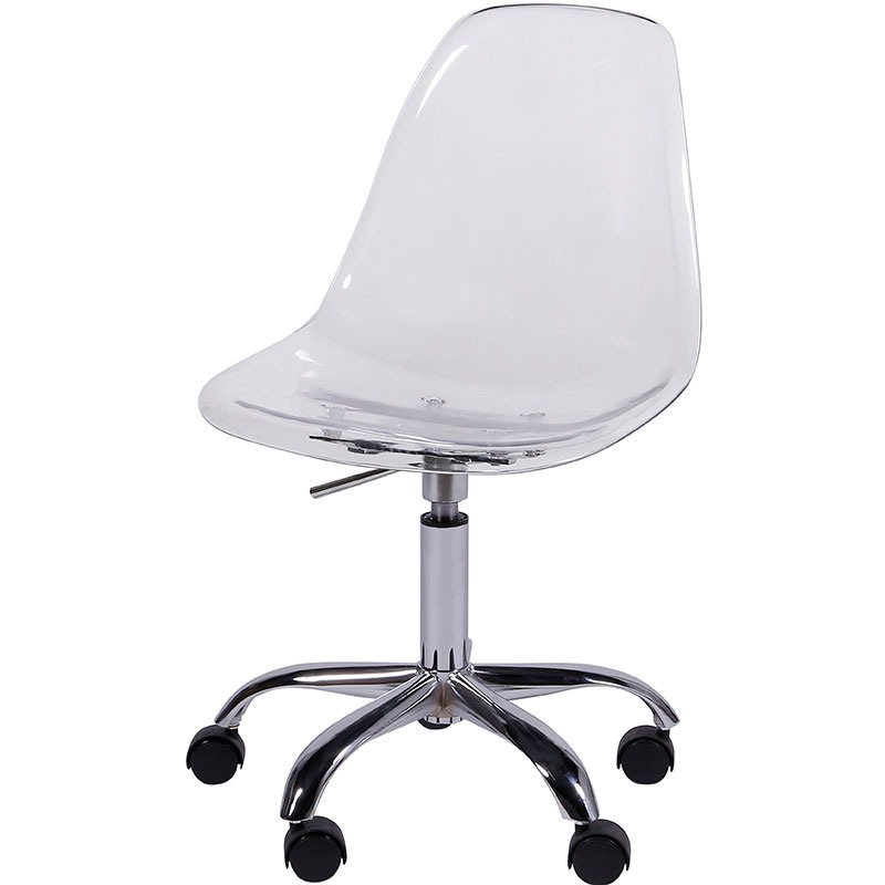 Cadeira Eames DKR OR-1101RPC com Rodízio – Or Design - Incolor