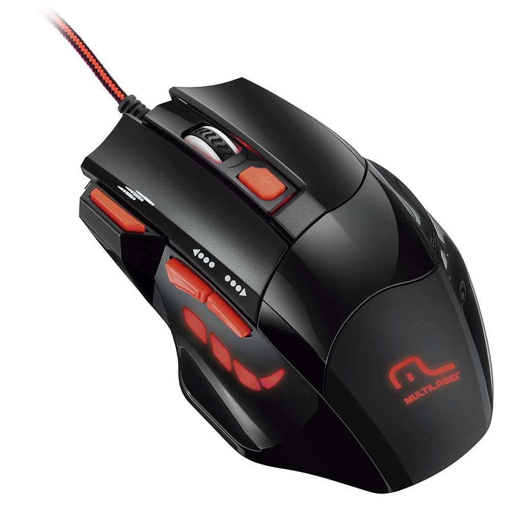Mouse Optico Xgamer Multilaser Fire Button Usb 2400 Dpi - MO236 - Padrão