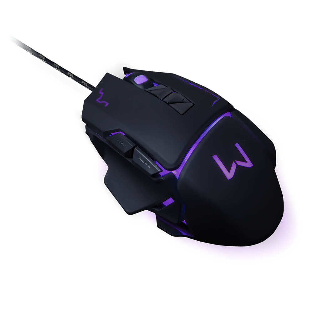 Mouse Gamer Mouse 3200 Dpi Preto Usb Warrior - MO261 - Padrão
