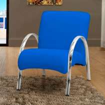 Poltrona Decorativa Polly 1 Lugar - Matrix Azul