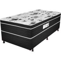 Cama Box Solteiro Born Black - Probel