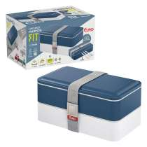 Marmita Lunch Box Fit - Euro Home - Azul