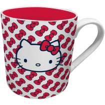 Caneca Hello Kitty Little Laces 300ml - Urban - Branco / Rosa