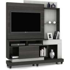 Estante Home Theater Madri - Notável - Carvalho black texturizado / Artico