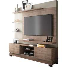 Estante Home Theater Thor - Linea Brasil Naturale/fendi wood