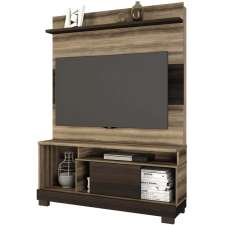 Estante Home Theater Hércules - Linea Brasil Capuccino wood/ebano