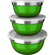 Conjunto de Potes German Bowl Colors 3 peças - Euro Home Verde